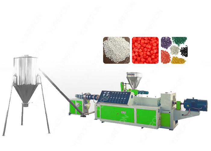 PVC Flakes Plastic Recycling Granulator Machine Hot Cutting Conical With Twin Screw