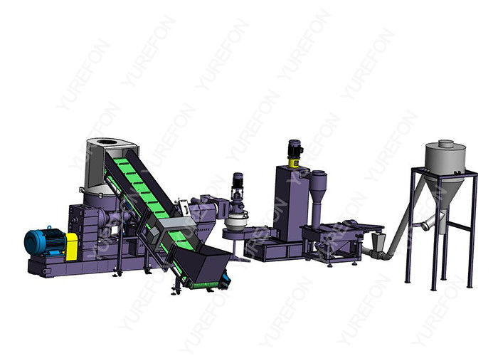 CE approved PE PP Film Bag Plastic Recycling Granulator Pelletizing Machine , Soft Plastic Granules Making Machine