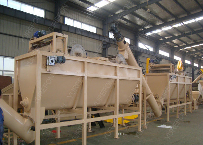 Waste PET Plastic Washing Recycling Machine Line Low Water And Power Consumption